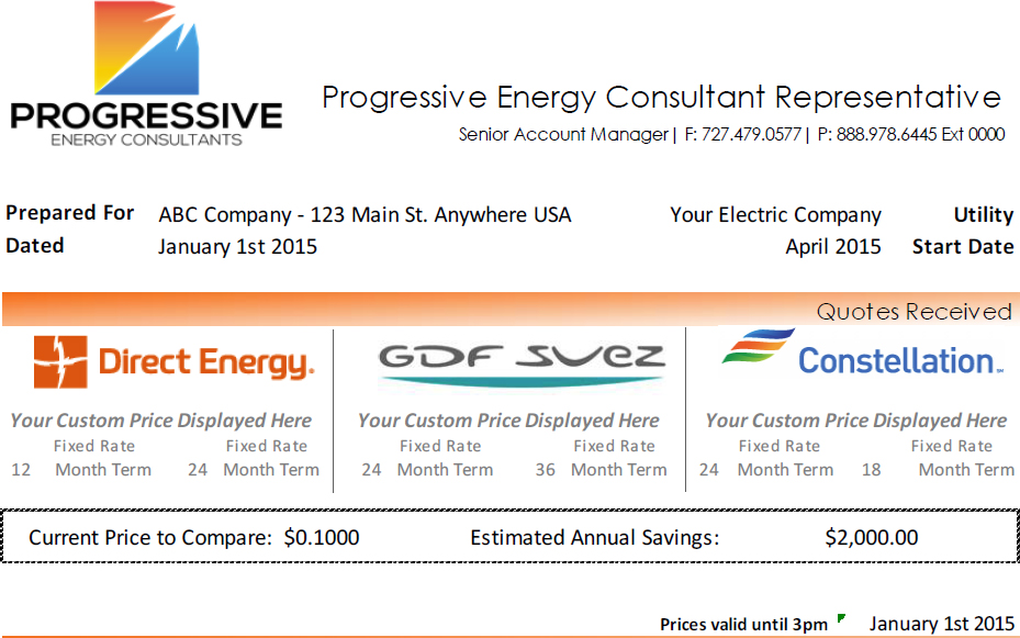 Progressive Energy Consultants  Receive Quote